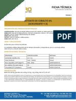 Ficha técnica - Octoato de cobalto 6 Español