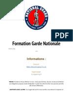 formation garde nationale