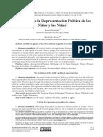 devenir de la representacion politica de los niños
