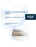 FLEISSNER-and-KLEMENTIEV_Health-Care-System-Models_A-review_1977
