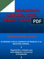 RESPONSABILIDAD LABORAL, CIVIL, PENAL Y SOLIDARIA