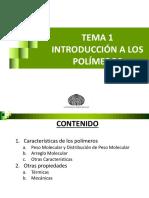 TEMA 1B INTRODUCCION A LOS POLIMEROS