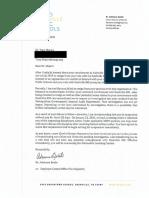 Majors' Discipline Letter