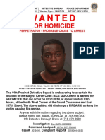 Wanted Flyer Homicide