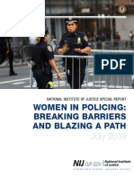 NATIONAL INSTITUTE OF JUSTICE SPECIAL REPORT WOMEN IN POLICING