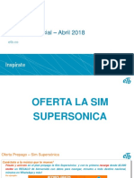 Oferta prepago SIM supersónica comercial