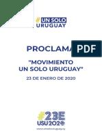 Proclama USU 2020