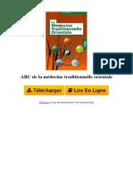 Z0NJ ABC de La Mdecine Traditionnelle Orientale Par Marc Mzard 2733911457
