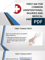 FIRST AID COMMON UNINTENTIONAL INJURIES AN MEICAL EMERGENCIES.pptx