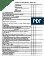lista de verificación trabajo en cubierta