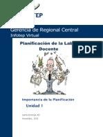 Planificacion de la labor docente  unidad 1.pdf