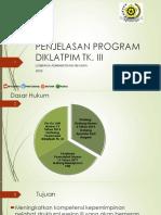 PENJELASAN PROGRAM DIKLATPIM TK II