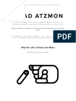 Why the 'Left' is Dead in the Water — Gilad Atzmon thoughts and music
