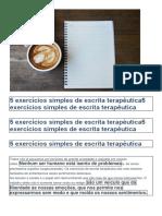5 exercícios simples de escrita terapêutica5 exercícios simples de escrita terapêutica.docx