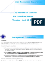 1_ESA Committee Meeting _ April 12 2018 _Recruitment-Diversity Update
