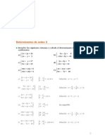 Matematicas Resueltos (Soluciones) Sistemas por Determinantes 2º Bachillerato Opción A