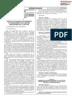 Decreto de Urgencia Nº 013-2020