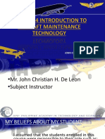 ELECTIVE 4 INTRODUCTION TO AIRCRAFT MAINTENANCE TECHNOLOGY Part 1