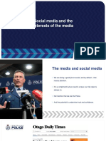 "Police presentation ""Social Media and the Interests of the Media"""