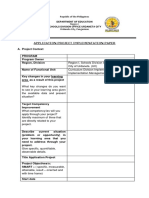 Project Implementation Paper Template