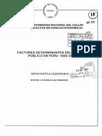 FACTORES DETERMINANTES DEL GASTO PUBLICO EN PERU