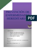 PREVENCIÓN DE ENFERMEDADES HEREDITARIAS