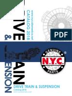 NYC CATALOGO  DRIVE TRAIN & SUSPENSION  2018
