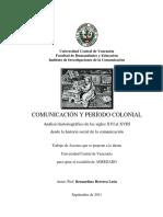 COMUNICACIÓN Y PERÍODO COLONIAL TA Agregado BHL