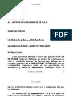 LA ETICA EN CARABINEROS DE CHILE COMO FACTOR DE INSEGURIDAD CIUDADANA