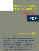 A Presentation on New Product Development