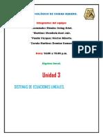 INSTITUTO TECNOLÓGICO DE CIUDAD MADERO unidad 3