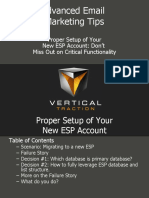Email Service Provider Lists - Proper Setup - Rob Van Slyke 1-2010