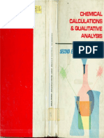 Chemical Calculations and Qualitative Analysis Second Edition by E. Cheng and J. Chow
