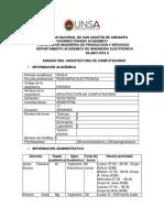 SILABO_ARQUITECTURA DE COMPUTADORAS  tca1 2018a DUFA