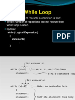 WHILE and DO WHILE Loop