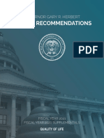 Governor Herbert Proposed Budget FY 2021