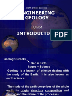 INTRODUCTION TO E . GEOLOGY