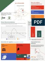 Trifoliar informativo - Desigualdad, Extractivismo y Desarrollo