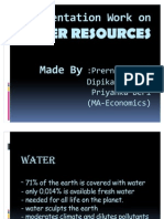 Presentation Work on Water Resourses