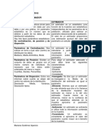 CUADRO COMPARATIVO PARAMETRO Y ESTIMADOR