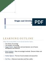 Sociology - Session 2 - Origin and development of sociology