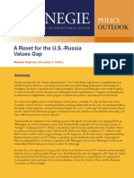 A Reset for the U.S.-Russia Values Gap