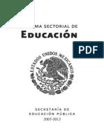 Programa Sectorial de Educacion 2007-2012 PDF