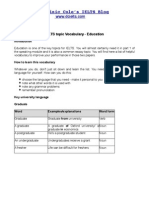 Education vocabulary for IELTS
