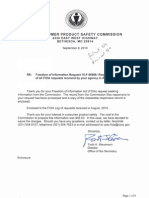 US Consumer Product Satety Commission - FOIA Logs - August 2010