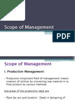 5. Scope of Management