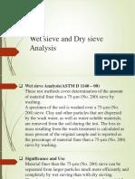 Wet sieve and Dry sieve Analysis