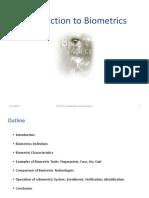 1. Introduction to biometrics