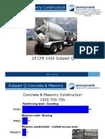 Concrete and Masonry Safety