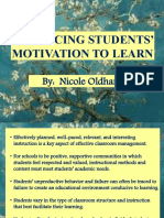 Enhancing Students' Motivation to Learn